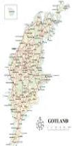 Liten karta över Gotland